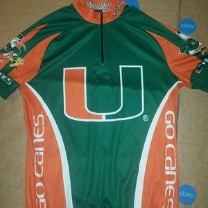 RARE Miami Hurricanes DE Marchi Mens XL Cycling